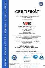 ČSN EN ISO 9001:2009 ve spojení s ČSN ISO 3834-2:2006