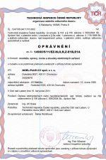 Oprávnění k činnosti 14900/5/11/EZ-M,O,R,Z-E1B,E1A