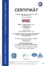 ISO 9001:2016 + 3834-2:2006 (CZ)