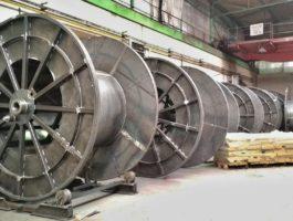 Ocelové transportní cívky